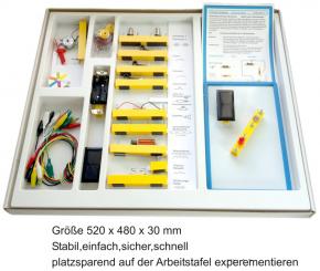 Elektrobaukasten 1.1 - Grundlagen und Solartechnik - im Karton mit Deckel