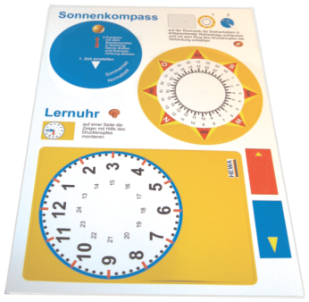 Lern-Uhr / Sonnenkompass
