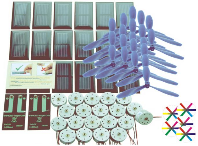Materialpaket Solarzellen, Motoren