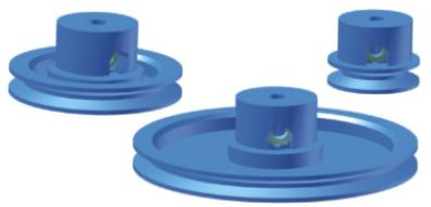 Riemenrad mit Bund, fest oder lose - Durchmesser 60 mm