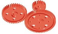 Zahnrad, lose drehbar, ohne Bund - 20 Zähne ohne Bund, Durchmesser 20 mm