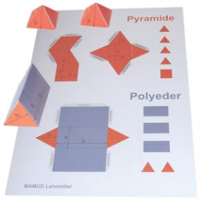 Bastelbögen - Pyramide - Polyeder