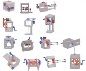 Technischer Baukasten - Maschinen und Getriebe - im Kunststoff-Koffer