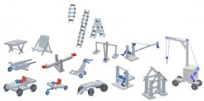 Einfacher Modellbau - technische Objekte - im Kunstoffkoffer